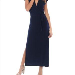 Veronica M. Navy maxi dress.